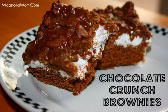 Chocolate Crunch Brownies - This recipe for Chocolate Crunch Brownies adds a new spin on old-time favorite.