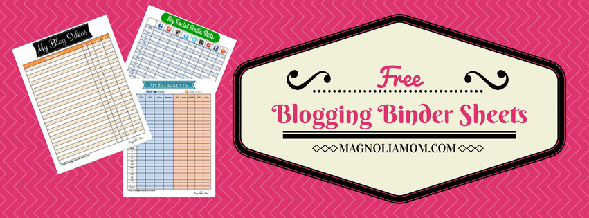 BloggingBinderSheets