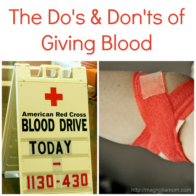 Tips For Giving Blood