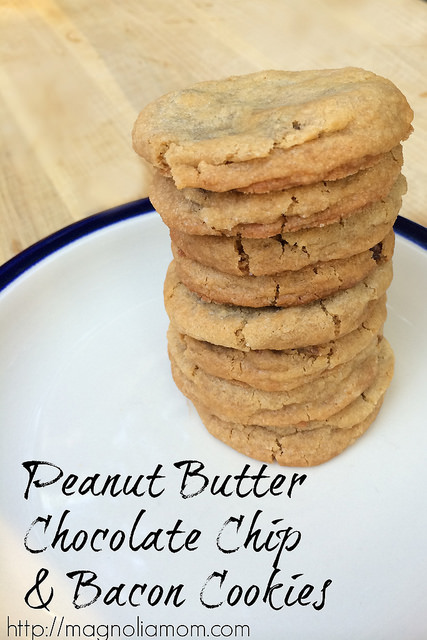 Peanut Butter Chocolate Chip and Bacon Cookies