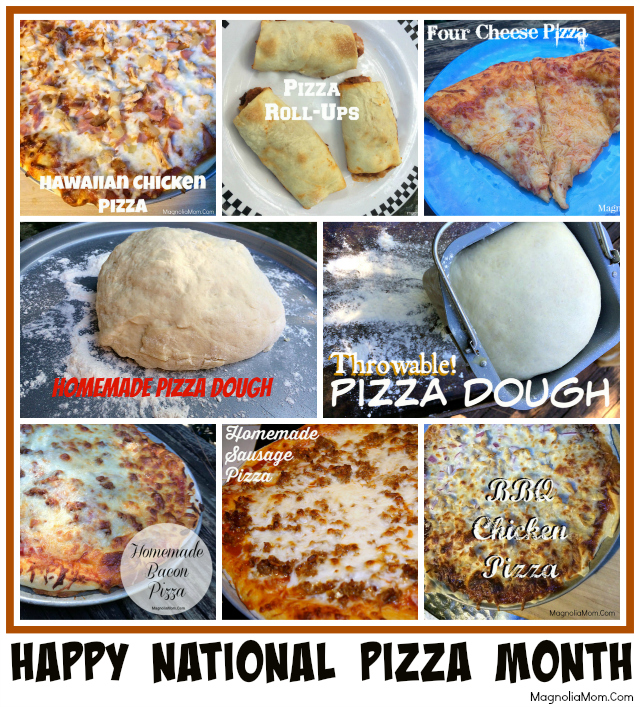 October is National Pizza Month, but regardless of what month it is Pizza is always a favorite.  Be sure to check this post out to see some amazing Pizza Recipes!