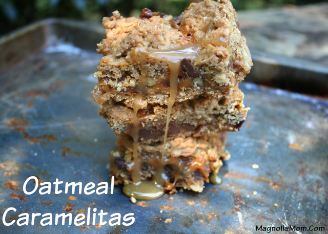 These super easy, oh, so delicious bars :: Oatmeal Caramelitas  :: Another must try by Magnolia Mom