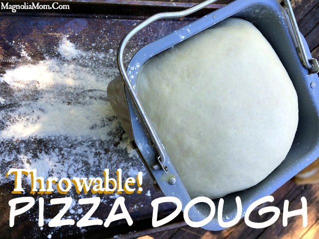Bread Machine Pizza Dough Recipe - If you're looking for a dough you can throw, this is it!